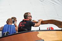 SKÛTSJESILEN: ECHTERNERBRUG: 06-08-2015, IFKS skûtsjesilen, Schipper Jeroen de Vos van het skûtsje Eelkje, ©foto Martin de Jong