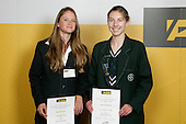 Girls Distance Running finalists Kelsi Patterson & Rachael Kingstone. ASB College Sport Young Sportperson of the Year Awards 2007 held at Eden Park on November 15th, 2007.