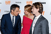 09 September 2017 - Toronto, Ontario Canada - Ben Stiller, Jenna Fischer and Austin Abrams. 2017 Toronto International Film Festival - &quot;Brad's Status&quot; Premiere held at Winter Garden Theatre. <br /> CAP/ADM/BPC<br /> &copy;BPC/ADM/Capital Pictures