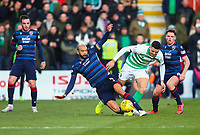1st December 2019; Global Energy Stadium, Dingwall, Highland, Scotland; Scottish Premiership Football, Ross County versus Celtic; Liam Fontaine of Ross County tackles Tom Rogic of Celtic - Editorial Use