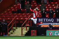 Lyle Taylor celebrates scoring Charlton's opening goal during Charlton Athletic vs Burton Albion, Sky Bet EFL League 1 Football at The Valley on 12th March 2019