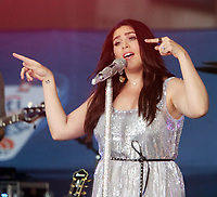 NEW YORK, NY - JULY 6:   Hillary Scott, of  Lady Antebellum perform at Citi Concert Series on NBC's Today Show  at Rockefeller Center in New York City on July 06, 2018. <br /> CAP/MPI/RW<br /> &copy;RW/MPI/Capital Pictures