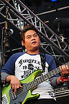 Kaohsiung, MegaPort Music Festival -- Guitarist of the Taiwanese reggae band MATZKA at the festival.