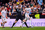 Sergio Ramos of Spain (R) fights for the ball with Gonzalo Higuain of Argentina (L) during the International Friendly 2018 match between Spain and Argentina at Wanda Metropolitano Stadium on 27 March 2018 in Madrid, Spain. Photo by Diego Souto / Power Sport Images