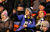 Preston North End fans cheer their side on in the second half<br /> <br /> Photographer Alex Dodd/CameraSport<br /> <br /> The EFL Sky Bet Championship - Middlesbrough v Preston North End - Wednesday 13th March 2019 - Riverside Stadium - Middlesbrough<br /> <br /> World Copyright &copy; 2019 CameraSport. All rights reserved. 43 Linden Ave. Countesthorpe. Leicester. England. LE8 5PG - Tel: +44 (0) 116 277 4147 - admin@camerasport.com - www.camerasport.com