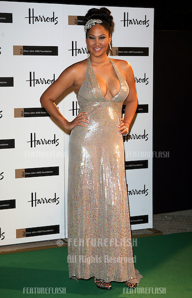 Kimora Lee Simmons  arriving at The Emerald Ball in aid of The Elton John AIDS Foundation at Harrods. 05/11/2009   Alexandra Glen / Featureflash