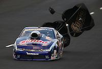 Jul. 18, 2014; Morrison, CO, USA; NHRA pro stock driver Jason Line during qualifying for the Mile High Nationals at Bandimere Speedway. Mandatory Credit: Mark J. Rebilas-