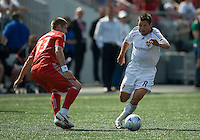 06 June 2009: Los Angeles Galaxy midfielder Dema Kovalenko #8 and Toronto FC midfielder Carl Robinson #33 in MLS action at BMO Field Toronto in a game between LA Galaxy and Toronto FC. .The Galaxy  won 2-1.