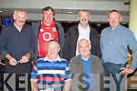 NIGHT AT THE DOGS: Enjoying a great time at the Kingdom Greyhound Stadium on Saturday seated l-r: John Reidy, Ballyheigue and Vincent McKenna, Lixnaw. Back l-r: Pat McKenna, Lixnaw, Eamon Finn, Dromina, Moss McKenna, Lixnaw and Dan Lynch, Ballyduff.