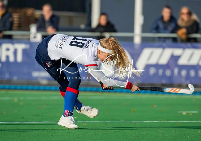 AMSTELVEEN - Yibbi Jansen (SCHC)  tijdens de competitie hoofdklasse hockeywedstrijd dames, Pinoke-SCHC (1-8) . COPYRIGHT KOEN SUYK