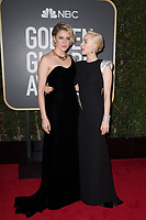 Nominated for BEST SCREENPLAY &ndash; MOTION PICTURE for &quot;Lady Bird,&quot; Greta Gerwig and actor Saoirse Ronan attend the 75th Annual Golden Globes Awards at the Beverly Hilton in Beverly Hills, CA on Sunday, January 7, 2018.<br /> *Editorial Use Only*<br /> CAP/PLF/HFPA<br /> &copy;HFPA/PLF/Capital Pictures