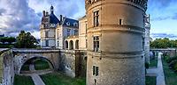France, Sarthe (72), Le Lude, château et jardins du Lude et les douves
