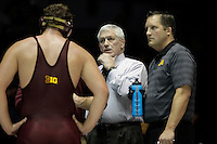 STATE COLLEGE, PA - JANUARY 25: Head coach J Robinson of the Minnesota Golden Gophers during a match against the Penn State Nittany Lions on January 25, 2015 at Recreation Hall on the campus of Penn State University in State College, Pennsylvania. Minnesota won 17-16. (Photo by Hunter Martin/Getty Images) *** Local Caption *** J Robinson