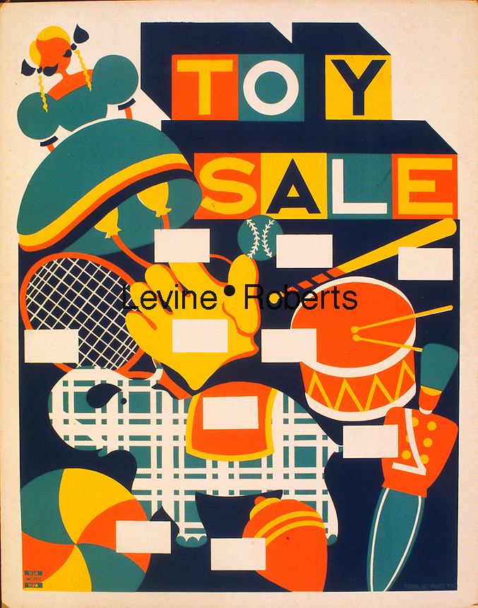 Toy sale poster created by the WPA, 1941-1943. Library of Congress. (Richard B. Levine)