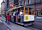 Cable car at Union Square in San Francisco