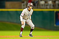 Tyler Naquin #18 of the Texas A&M Aggies takes his lead off of second base against the Houston Cougars at Minute Maid Park on March 6, 2011 in Houston, Texas.  Photo by Brian Westerholt / Four Seam Images