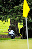 Chunit Chowrasia (India) chips onto the 13th green on day one of the 2017 Asia-Pacific Amateur Championship day one at Royal Wellington Golf Club in Wellington, New Zealand on Thursday, 26 October 2017. Photo: Dave Lintott / lintottphoto.co.nz