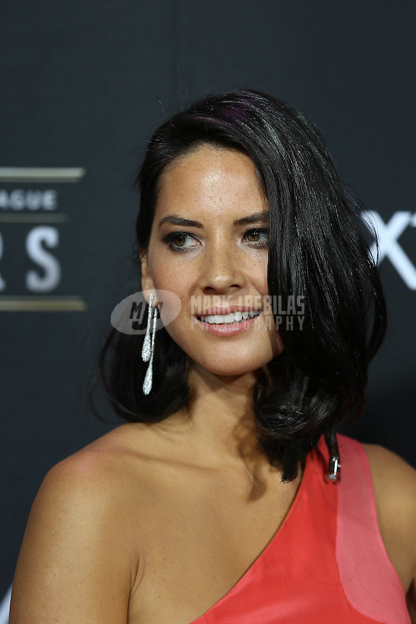 Feb. 2, 2013; New Orleans, LA, USA: Movie/television actress Olivia Munn on the red carpet prior to the Super Bowl XLVII NFL Honors award show at Mahalia Jackson Theater. Mandatory Credit: Mark J. Rebilas-USA TODAY Sports