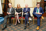 Dr  John Hillery, Rita Mc Inerney, Timmy Dooley and Cathal Crowe sitting together before the Fianna Fail selection convention in Hotel Woodstock. Photograph by John Kelly.