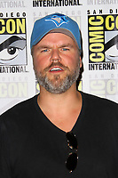 SAN DIEGO - July 23:  Tyler Labine at Comic-Con Sunday 2017 at the Comic-Con International Convention on July 23, 2017 in San Diego, CA