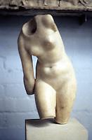 Greek Art:  Venus.  Binding her saddle--torso. Probably 1st Century B.C.  British Museum.