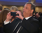 Former Governor Chris Christie (Republican of New Jersey) takes a photo of a fellow attendee of the 2018 White House Correspondents Association Annual Dinner at the Washington Hilton Hotel on Saturday, April 28, 2018.<br /> Credit: Ron Sachs / CNP<br /> <br /> (RESTRICTION: NO New York or New Jersey Newspapers or newspapers within a 75 mile radius of New York City)