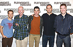 T.R. Knight, Jonathan Hogan, Cameron Scoggins, Danny Wolohan, and Brian Hutchison attends the 'Pocatello' Meet & Greet at Playwrights Horizons on October 21, 2014 in New York City.