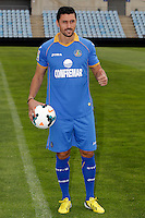 Ciprian Andrei Marica attends his official presentation as a new Getafe player at Alfonso Perez Stadium in Getafe, Madrid, Spain. October 2, 2013. (ALTERPHOTOS/Victor Blanco)
