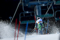 Cameron Rahles-Rahbula  (AUS)<br /> Skiing - APC / Slalom<br /> IPC Alpine Skiing World Cup<br /> Thredbo Resort NSW<br /> Wednesday 4th September 2013<br /> © Sport the library / Jeff Crow