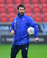 Lincoln City manager Danny Cowley during the pre-match warm-up <br /> <br /> Photographer Chris Vaughan/CameraSport<br /> <br /> The Carabao Cup First Round - Rotherham United v Lincoln City - Tuesday 8th August 2017 - New York Stadium - Rotherham<br />  <br /> World Copyright &copy; 2017 CameraSport. All rights reserved. 43 Linden Ave. Countesthorpe. Leicester. England. LE8 5PG - Tel: +44 (0) 116 277 4147 - admin@camerasport.com - www.camerasport.com