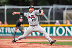 4 September 2017: Tri-City ValleyCats pitcher Ian Hardman on the mound during the second game of a double-header against the Vermont Lake Monsters at Centennial Field in Burlington, Vermont. The ValleyCats split their games, winning 6-5 in the first, then dropping the second 7-4 in NY Penn League action. Mandatory Credit: Ed Wolfstein Photo *** RAW (NEF) Image File Available ***