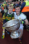 Brian Kelly celebrates  after winning the 2014 All-Ireland Football Final against Donegal in Croke Park 2014.<br /> Photo: Don MacMonagle<br /> <br /> <br /> Photo: Don MacMonagle <br /> e: info@macmonagle.com