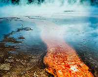 """Prism at Dusk""  Yellowstone National Park  Grand Prismatic Spring 