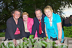 Abbeyfeale ladies Eilish McKenna, Mary Behan and Kathleen Kennelly pictured with Sean Kelly at the official opening and blessing by Fr John O'Sea of the Community Garden in Abbeyfeale last Wednesday evening.