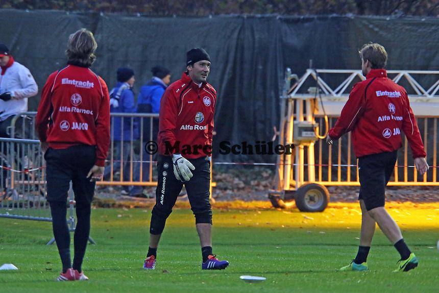 Martin Lanig, Oka Nikolov, Marco Russ (Eintracht)