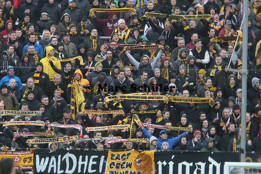Dresdener FAns - FSV Frankfurt vs.Dynamo Dresden, Frankfurter Volksbank Stadion