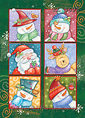 Interlitho, Andrea, CHRISTMAS SANTA, SNOWMAN, paintings, snowmen, santa, reindeer(KL5693,#X#)