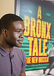 """Bradley Gibson during the photocell for """"A Bronx Tale - The New Musical""""  at the New 42nd Street Studios on October 21, 2016 in New York City."""