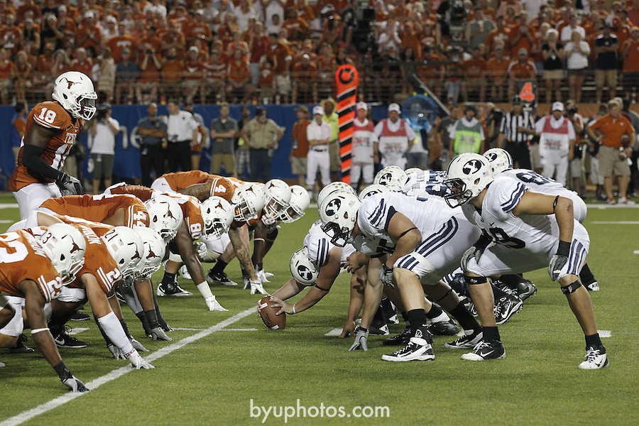 11FTB at Texas 0648.CR2<br /> <br /> 11FTB at Texas<br /> <br /> BYU - 16<br /> Texas - 17<br /> <br /> September 10, 2011<br /> <br /> Photography by Mark A. Philbrick<br /> <br /> Copyright BYU Photo 2011<br /> All Rights Reserved<br /> photo@byu.edu   (801)422-7322