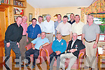 GOLFERS: At the Earl of Desmond Golf Society Presentation Dinner in Stokers Lodge on Saturday night were, first row left-to-right: Neill Peevers, John Groves (captain), and Austin Jackson. Back row left-right: Tom Cosgrove, Jim Tansley, John Gallinn, Tom Slye, Paddy Neagle, Tim Cotter, Colm Murphy, Michael Crossan, Pat Reidy and Kevin Hurley..