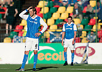 FK Trakai v St Johnstone…06.07.17… Europa League 1st Qualifying Round 2nd Leg, Vilnius, Lithuania.<br />Murray Davidson reacts after saints conceeded<br />Picture by Graeme Hart.<br />Copyright Perthshire Picture Agency<br />Tel: 01738 623350  Mobile: 07990 594431