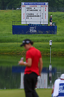 The scoreboard reflects the scores as Carlota Ciganda (ESP) looks over the green on 8 during round 4 of the KPMG Women's PGA Championship, Hazeltine National, Chaska, Minnesota, USA. 6/23/2019.<br /> Picture: Golffile | Ken Murray<br /> <br /> <br /> All photo usage must carry mandatory copyright credit (© Golffile | Ken Murray)