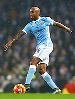 Fabian Delph of Manchester City during the Barclays Premier League match between Manchester City and Swansea City played at the Etihad Stadium, Manchester on December 12th 2015