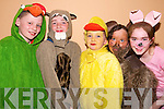 Colourful characters: Gerard O'Connor, Darrah Browne, Helen O'Callaghan, Jemma Griffin and Sarah Tracey, pupils of the Ballyduff National School who preformed at their school concert at the Ballyduff Community Centre on Wednesday night.