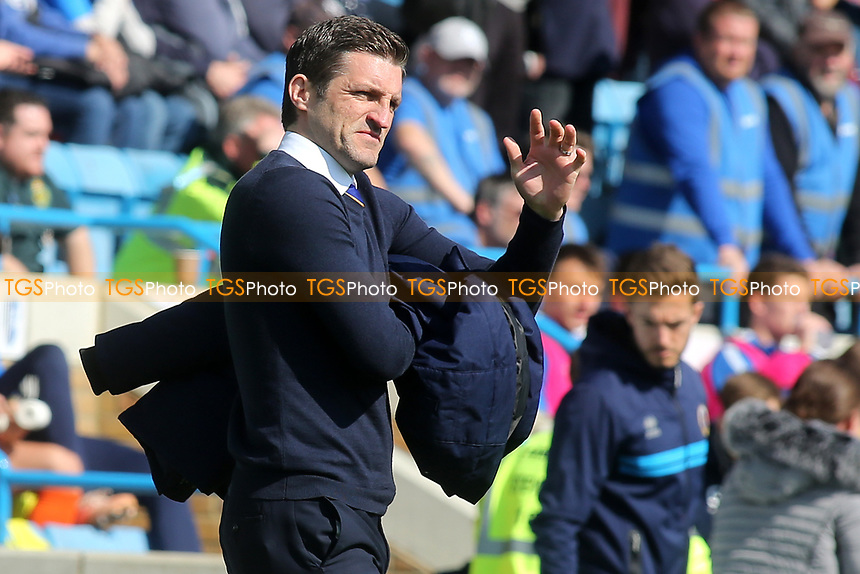 Shrewsbury Town Manager, Sam Ricketts during Gillingham vs Shrewsbury Town, Sky Bet EFL League 1 Football at The Medway Priestfield Stadium on 13th April 2019