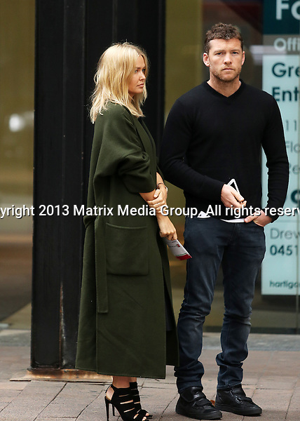 22 JANUARY 2014 SYDNEY AUSTRALIA<br /> <br /> EXCLUSIVE PICTURES<br /> <br /> Lara Bingle pictured with Sam Worthington visiting the offices of Bowel Cancer Australia and having brunch at a cafe in The Rocks<br /> <br /> <br /> *No internet without clearance*<br /> MUST CALL PRIOR TO USE .<br /> +61 2 9211-1088<br /> Matrix Media Group<br /> Note: All editorial images subject to the following: For editorial use only. Additional clearance required for commercial, wireless, internet or promotional use.Images may not be altered or modified. Matrix Media Group makes no representations or warranties regarding names, trademarks or logos appearing in the images.