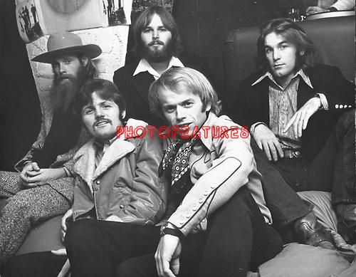 Beach Boys 1970 Mike Love, Bruce Johnston, Carl Wilson, Al Jardine and Dennis Wilson..© Chris Walter..