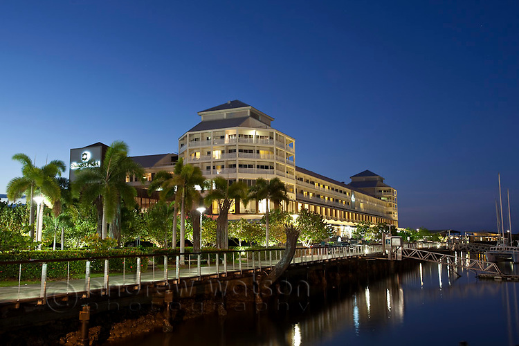 The Shangri-La Hotel at Marlin Marina.  Cairns, Queensland, Australia