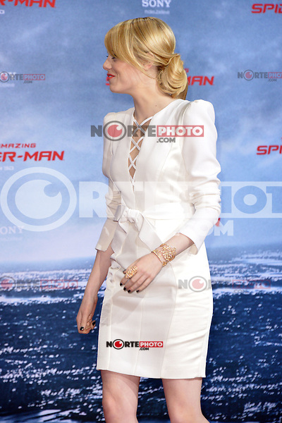 Emma Stone (wearing an Andrew Gn dress, Repossi jewelry) attending the Germany premiere of the movie The Amazing Spider-Man at CineStar Sony Center in Berlin. Berlin, 20.06.2012...Credit: Timm/face to face /MediaPunch Inc. ***Online Only for USA Weekly Print Magazines*** NORTEPOTO.COM<br />