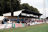 Covered terrace at Enfield FC Football Ground, Southbury Road, Enfield, London, pictured on 24th July 1996